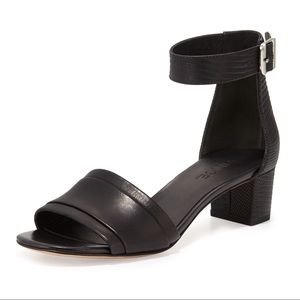 Vince raine black leather ankle strap sandal 7.5